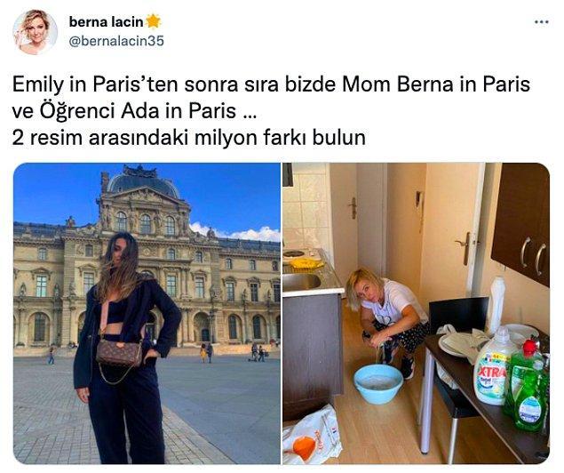 2. Pantheon-Sorbonne Üniversitesi'ni kazanan kızını yurda yerleştirmek için Paris'e giden Berna Laçin'in paylaştığı bu fotoğrafı herkesi güldürdü.