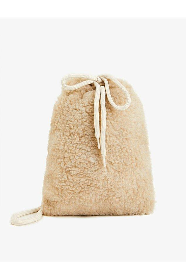 5. Koton peluş sırt çantası yumuş yumuş, çok tatlı...