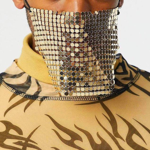 18. Virüslerle halay çekmek için ideal bir maske.
