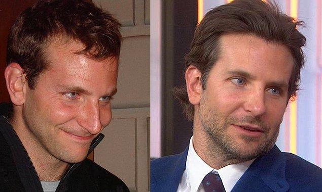 5. 'Hangover' serisinin yıldız oyuncusu Bradley Cooper'ın saçlarında da bazı farklılıklar görüyoruz.