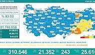 Koronavirüs Türkiye: 21 Bin 352 Yeni Vaka, 243 Ölüm...