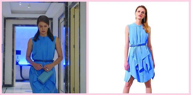 Dizinin başlangıcında Nalan'ın giydiği mavi fırfırlı elbiseye de kalbimizi bıraktık💙