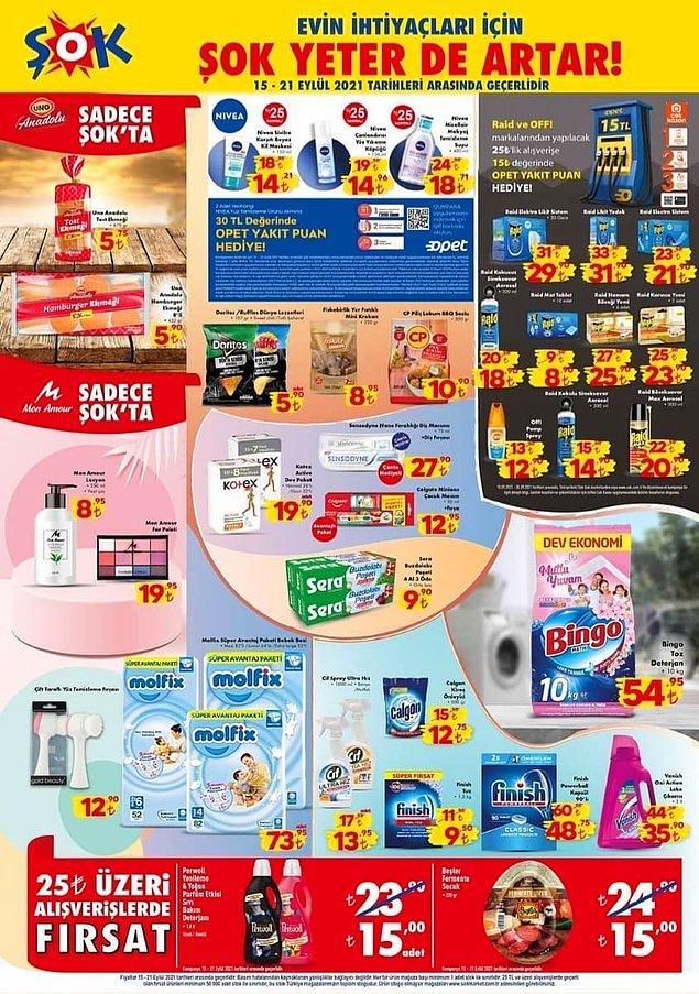 25 TL ve üzeri alışverişlerinizde geçerli olacak indirimler;