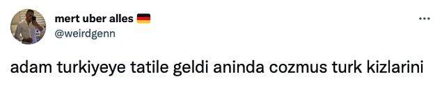 Twitter'dan @weirdgenn, Morrone'ye Instagram üzerinden mesaj atarak Türk kadınlarını beğenip beğenmediğini sormuş.
