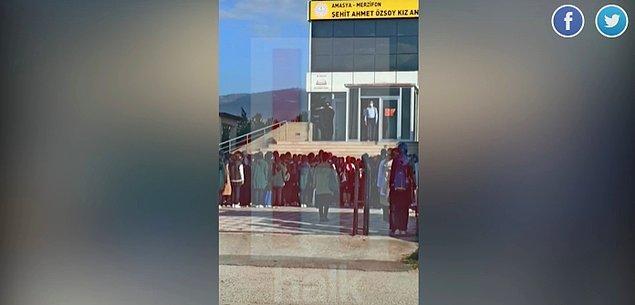 """Kara çarşaf ile İstiklal Marşı okutulmasını Halk Tv'de yazan İsmail Saymaz, """"Okul müdürünün eşi ve müdür yardımcısı kavga etmişti"""" dedi."""