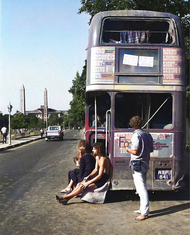 2. Hippi otobüsü, İstanbul, 1971.