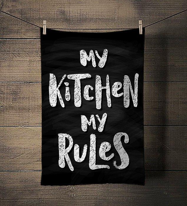11. Mutfakta sürekli el havlusuna ihtiyaç duyanların çok hoşuna gidecek bir havlu.