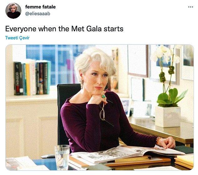 """1. """"Met Gala başladığında herkes..."""""""
