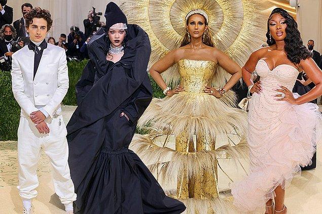 Öncelikle bilmeyenleriniz için dün akşam Met Gala 2021 vardı, New York'taki Metropolitan Sanat Müzesi yararına düzenlenen gecede ünlüler adeta birbirleri ile yarış halindelerdi.