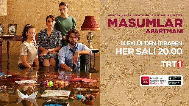"""Hikayesi ve oyunculuklarıyla geçen sezon dikkatleri çeken """"Masumlar Apartmanı"""" bu akşam saat 20.00'de yeni sezonuyla TRT 1'de ekranlara gelecek."""