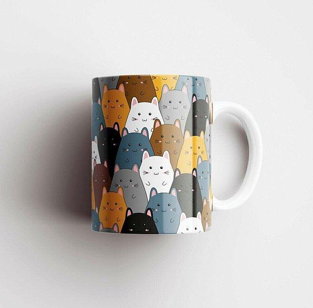 7. Bu hamster tasarımlı seramik kupa çok sevimli. 😍