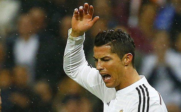 Bu durum Ronaldo'nun pek hoşuna gitmedi.