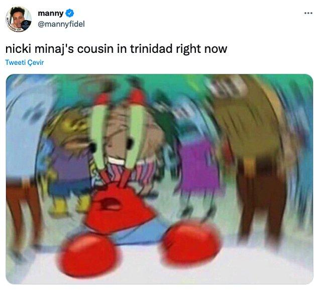 """Nicki Minaj'ın kuzeni şu anda Trinidad'da"""