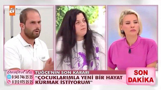 Tüm bu itirafların üstüne Tuğçe Türkoğlu'nun Bayram Er ile olan ilişkisinden üç haftalık hamile olduğu ortaya çıktı.
