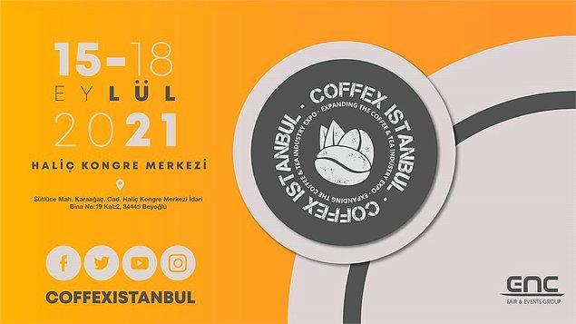 Tüm kahve ve çikolata tutkunlarının ziyaretine açık olacak olan Coffex İstanbul, 15-18 Eylül tarihleri arasında İstanbul Haliç Kongre Merkezi Kuleli Salonu'nda gerçekleşecek.