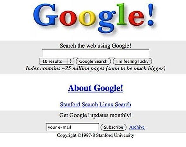 14. Google - Arama Motoru (1998)