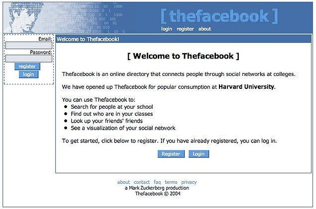 15. Facebook - Sosyal Network (2004)