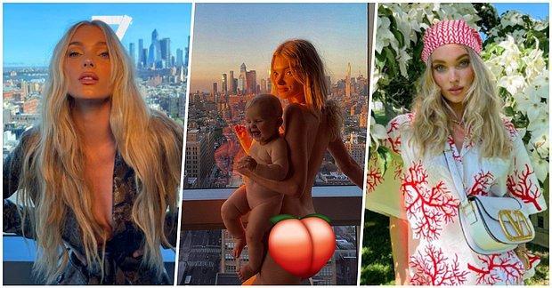 Dünyaca Ünlü Model Elsa Hosk'un Kucağında Bebeği ile Olan Çırılçıplak Fotoğrafı Tartışma Yarattı!