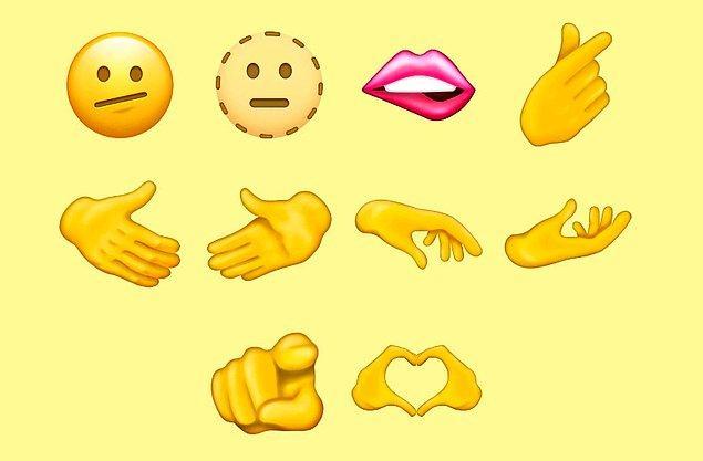 K-pop hayranlarını sevindiren kalp şeklindeki parmaklara ek olarak birçok farklı el emojisinin de olması dikkat çekti.