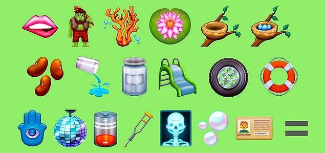 Mağara adamına benzeyen troll emojisi de sosyal medyada çok konuşuldu. Mercan, lotus çiçeği, yumurtalı ve boş olmak üzere iki ayrı kuş yuvası, fasulye taneleri yeni emojiler arasında.