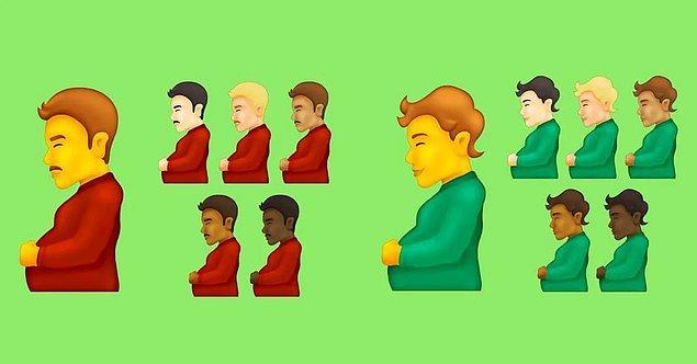 Bu sene sosyal medyada en çok konuşulan yeni emojilerden birisi de tartışmasız hamile erkek oldu.