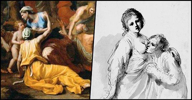 """Bu arada Maximus'tan sonra yine 1. yy.da Yaşlı Pliny adlı bir tarihçi olayın """"ana-kız"""" versiyonunu da aktarır. Ancak sanat tarihine bakıldığında din gibi çeşitli nedenlerden ötürü..."""