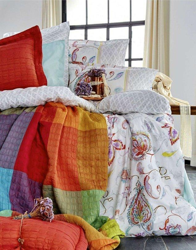 7. Yorganlar, battaniyeler tamam! Kışlık nevresimleri de hazırlamak gerek.