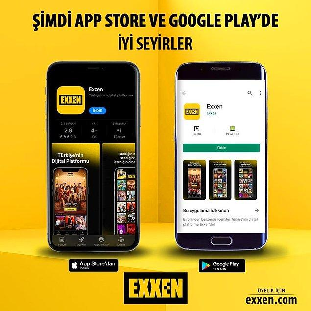 Maçları akıllı telefonunuzdan izlemek istiyorsanız, telefonunuzun uygulama mağazasından Exxen'i indirip üyelik girişi yaparak bunu sağlayabilirsiniz.