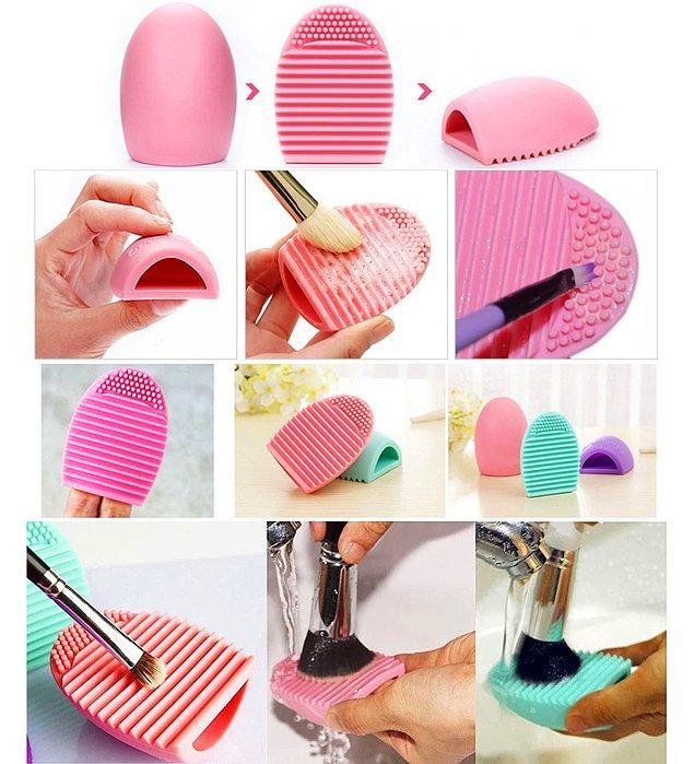 4. Makyaj fırçası temizleyici 👇