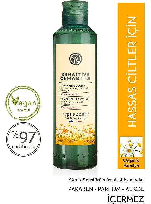 9. Hassas ciltler için vegan içerikli bir ürün.