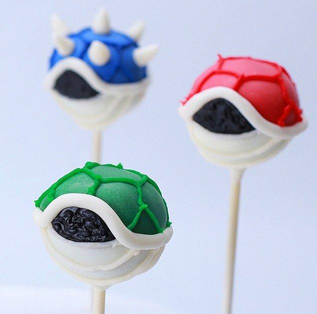 4. Mario Kart oynarken yarışı burnumuzdan getiren bu kabuklar bu halleriyle pek bir lezzetli görünüyorlar.