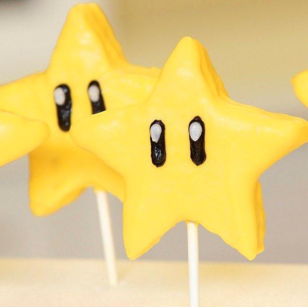 11. Super Mario oynarken en büyük yardımcımız olan bu yıldızlar da kendilerini birer tatlı olarak buluvermişler.