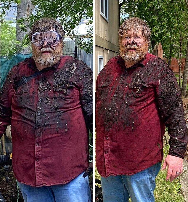 """11. """"Babam hiçbir tecrübesi olmamasına rağmen bahçeyi temizlemek istemişti."""""""