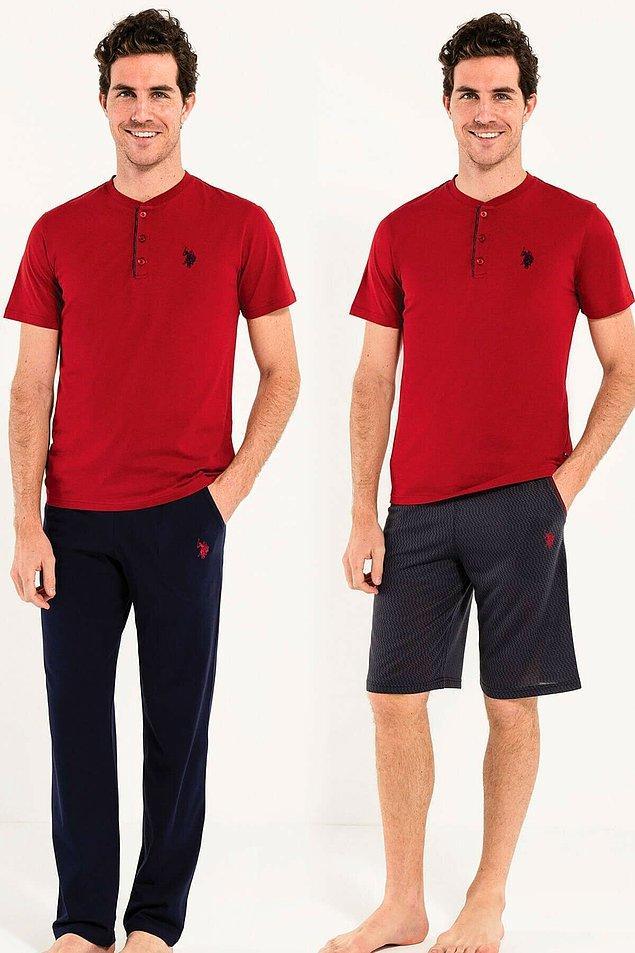 18. Klasik erkek pijama takımlarından hoşlananlar için güzel bir fırsat... US Polo pijama takımı hediye olarak vermek için de güzel bir seçenek, çünkü kutulu olarak geliyor.