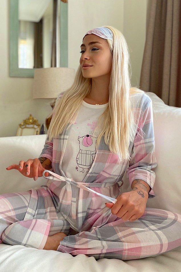 11. Sabahlıklı pijama takımı mı arıyordunuz yoksa? Bir üşüyüp bir terleyenler için en doğru seçim.