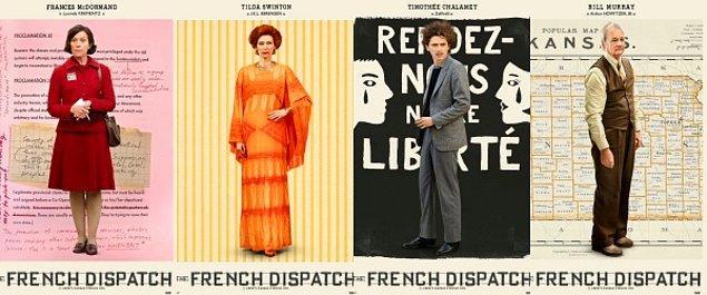 4. The French Dispatch'ten karakter posterleri yayımlandı.