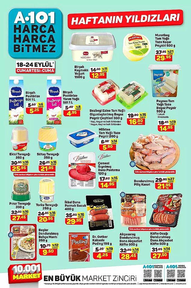A101'de bu hafta Akçasaray 500 gr Dondurulmuş Dana Akçaabat Köfte 28,45 TL.