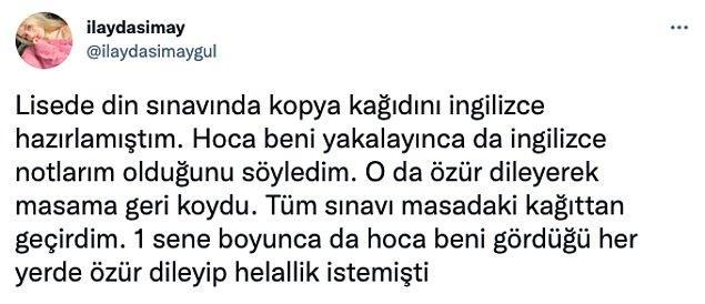 1. Twitter'da @ilaydasimaygul adlı kullanıcı, başına gelen komik bir kopya çekme anısını paylaşınca,