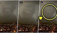 İstanbul'da Akşam Saatlerinde Görüntülenen İnsan Suretindeki Bulut Görenleri Şaşkına Çevirdi!