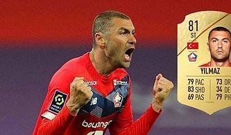 Fransa'da Kral İlan Edilen Milli Futbolcumuz Burak Yılmaz'ın FIFA 22 Kartı Belli Oldu!