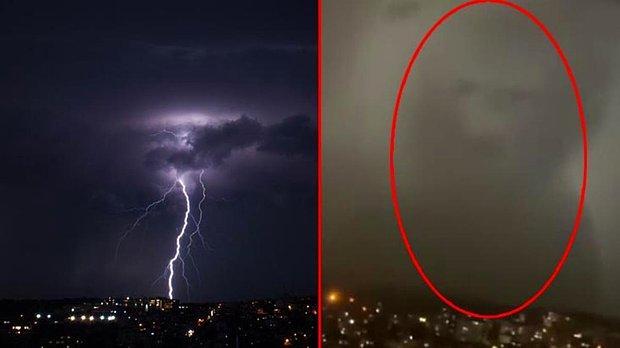 İstanbul'da Bulutların Oluşturduğu Silüet Herkesi Şaşkına Çevirdi! O İsime Çok Benzetildi...