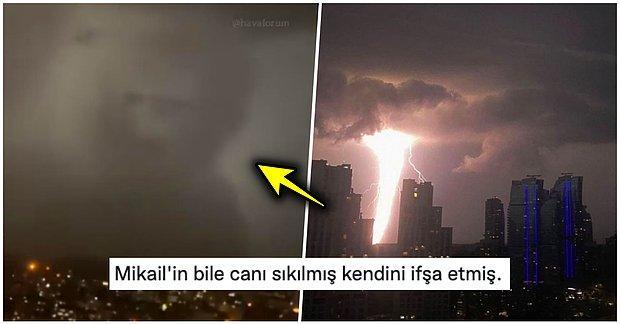 Voldemort mu Döndü? İstanbul'da Yağmurlu Hava ile Ortaya Çıkan Enteresan Bulut Mizah Malzemesi Oldu