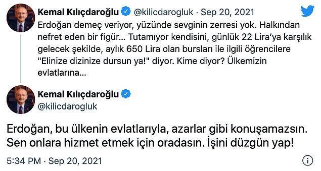 Kılıçdaroğlu, yaptığı paylaşımlarda şu ifadeleri kullandı: