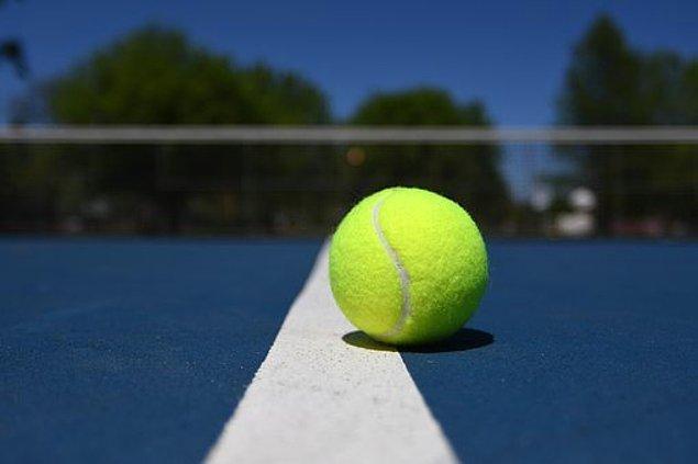 1. Tenis topu egzersizi.