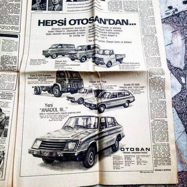 1971'de A1'in fiyatı 43 bin 500 lira iken A2'nin fiyatı ise 49 bin 450 liraydı; o dönemde asgari ücret ise sadece 585 liraydı.