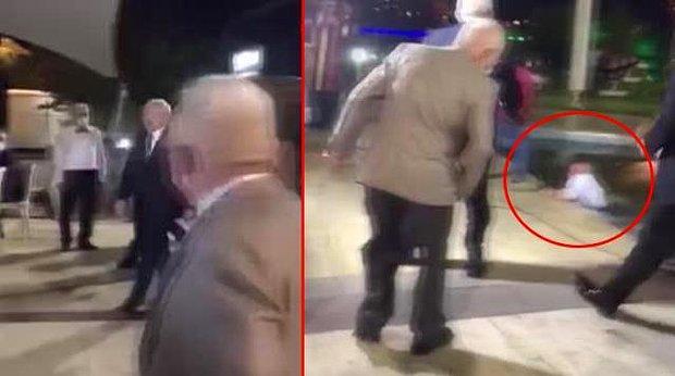 Kemal Kılıçdaroğlu'nun Düğün Salonuna Girdiği Anda Görüntü Almaya Çalışan Kameraman Havuza Düştü