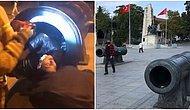 Beşiktaş Sahili'nde Fotoğraf Çektirmek İçin Girdiği Tarihi Topun İçinde Mahsur Kalan Genç