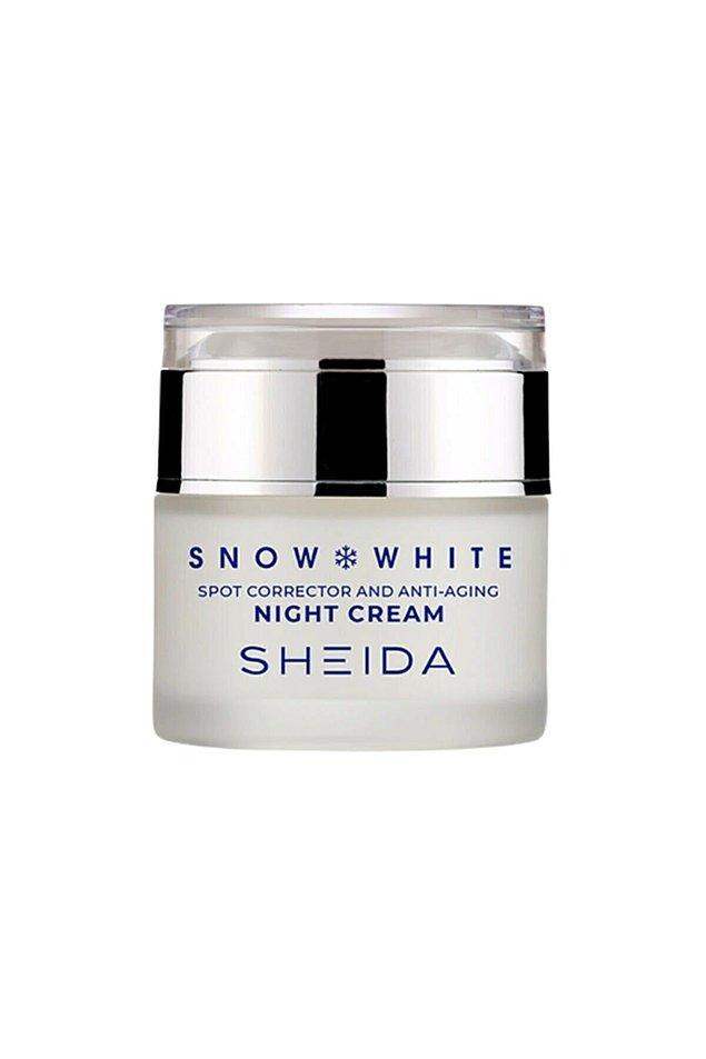 17. Sheida Snow White Anti-Aging Leke Açıcı Gece Kremi