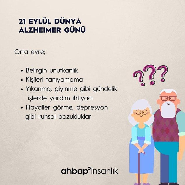 Alzheimer'ın orta evrelerindeki belirtiler nelerdir?