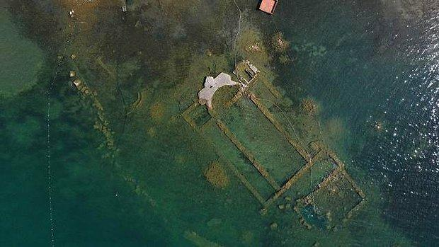 İznik Gölü'nde Su Çekildi, 1.500 Yıllık Bazilika Ortaya Çıktı